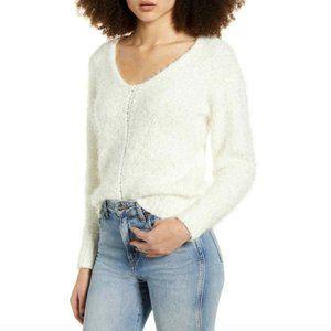 NWOT BP (Nordstrom) Eyelash Cream V neck pullover sweater Small